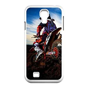 Motocross Samsung Galaxy S4 9500 Cell Phone Case White DIY Gift pxf005_0252868