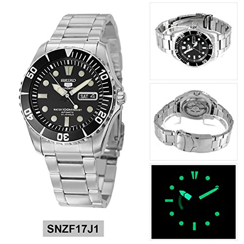 low cost 12e59 e96df SEIKO Automatic Divers Oyster Bracelet SNZF17J1 SNZF17 Mens Watch