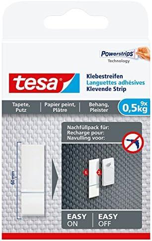 tesa 粘着ストリップ 壁紙 プラスター 高保持力 0,5 kg 77770-00000-00
