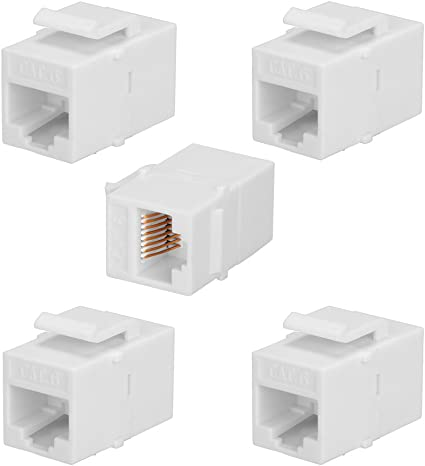 CAT6 Inline Coupler Keystone RJ45 Female Snap-In Jack Insert Black 20 Pack