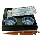 Japanese Porcelain Sushi Sashimi Dinnerware Gift Set for Two