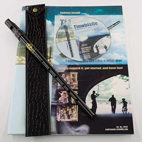 Clarke Celtic Tinwhistle Value Bundle with Tinwhistle, Pouch, Book and CD