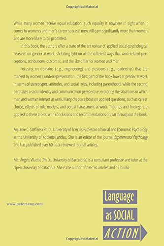 Gender at Work: A Social Psychological Perspective (Language as Social Action) by Peter Lang Inc., International Academic Publishers