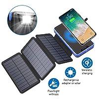 Zonhood Solar Wireless Charger Power Ban...