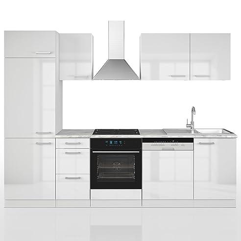VICCO Küche 270 cm Küchenzeile Küchenblock Einbauküche ...