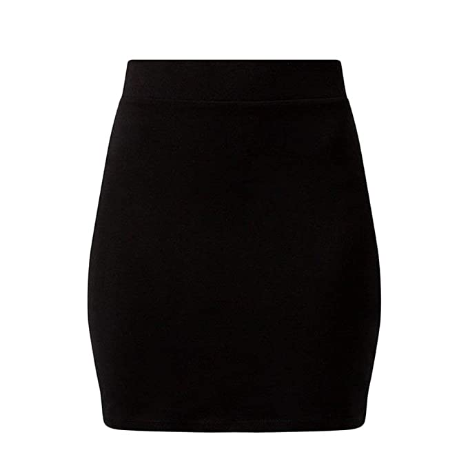 New Ladies New Look Black Knee Skirt Sizes 8-14