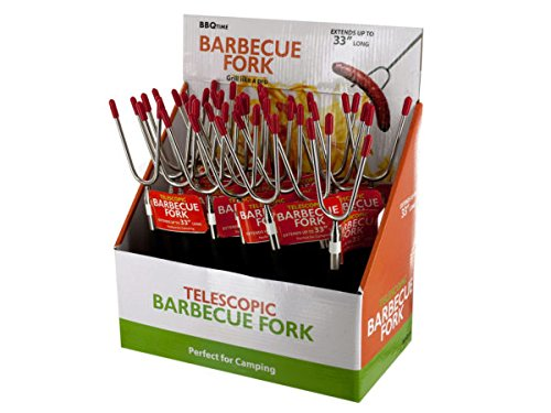 Telescopic Barbecue Fork Countertop Display - Pack of 24