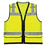 Ergodyne GloWear 8253HDZ ANSI High Visibility Heavy-Duty Mesh Surveyors Reflective Safety Vest, Lime, 4X-Large/5X-Large