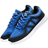 VANSKELIN Men's Knit Running Shoes Cross Training Shoes Lightweight Athletic Shoes Outdoor Sneakers (11 D(M) US/45 M EU, Blue/Black) Review