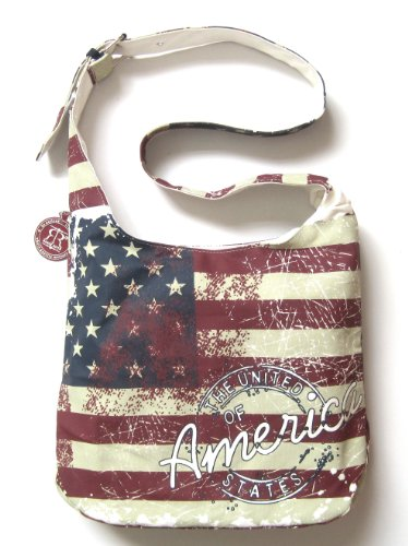 Robin Ruth Canvas Bags & Wallets USA Flag Collection (Canvas Sling Bag USA Flag) ()