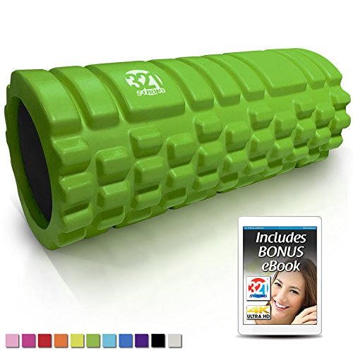321 STRONG Foam Roller - Medium Density Deep Tissue Massager for Muscle Massage and Myofascial Trigger Point Release, with 4K eBook - Green