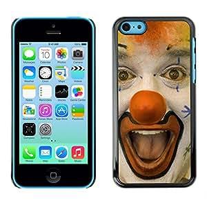 - Clown Evil Joker Pattern - - Monedero pared Design Premium cuero del tir¨®n magn¨¦tico delgado del caso de la cubierta pata de ca FOR Apple iPhone 5C Funny House