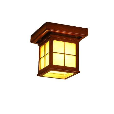 MOMO Lámpara de Techo de Madera con Ahorro de energía E27 ...