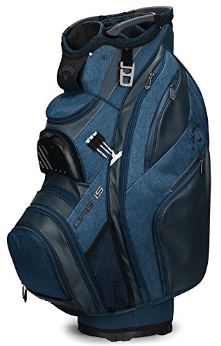 Callaway Golf 2018 Org 15 Cart Bag, Black/ Titanium/ Silver, Black/ White/ Titanium, Titanium/ Navy/ White