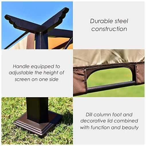 Garden and Outdoor FANTASK Garden Gazebo, Patio Pavilion, Outdoor Party Pergola, Heavy Duty Grape Canopy, Metal Frame Grape Gazebo & Canopy… pergolas