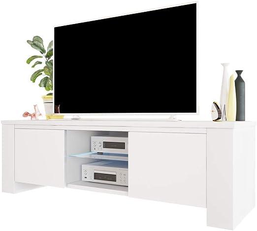 Jackson – Armario de televisión/TV de Mesa en Color Blanco con ...