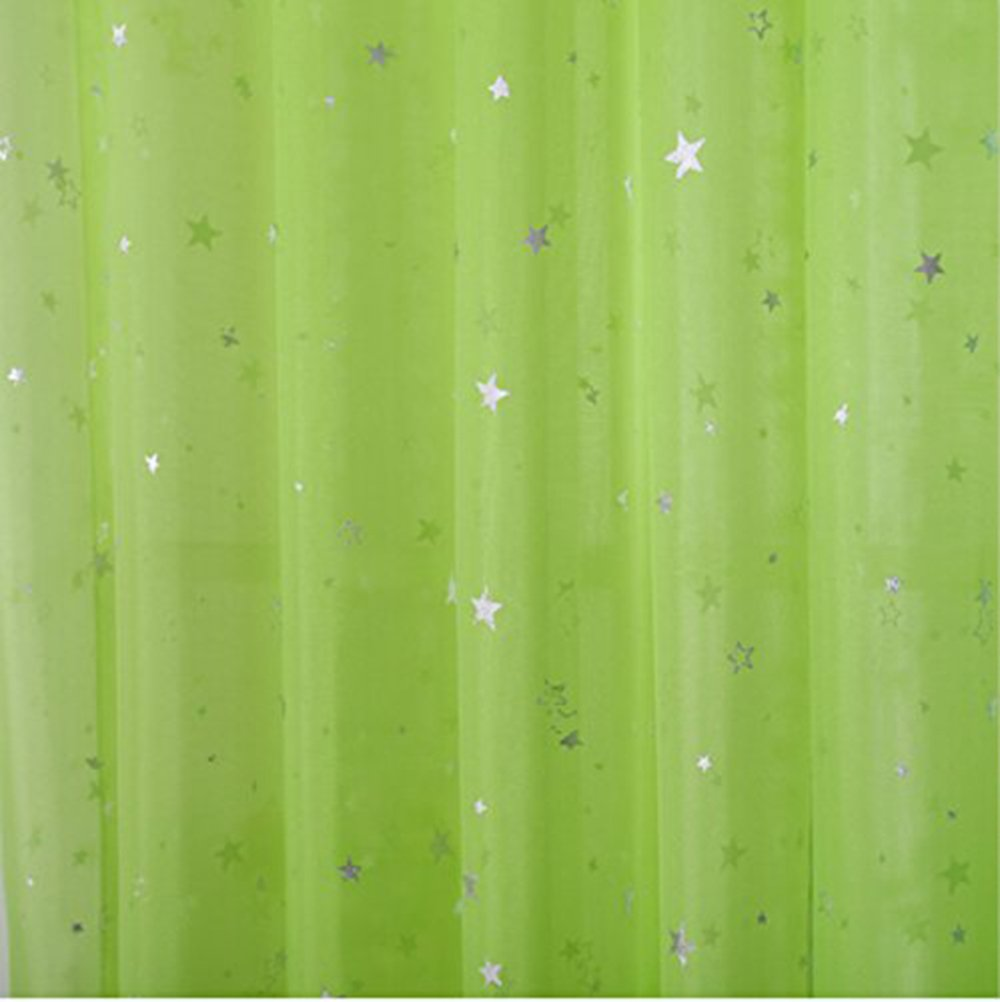 1 Panel W39xH63 pureaqu Kids Room Window Curtain Sheer Decoration Rod Pocket Process Silver Star Voile Curtain//Drapes