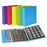 PUBLICA M COLOR Coin Album [Lindner S3540M], with 10 Coin Pages - Color: Nautic (blue)