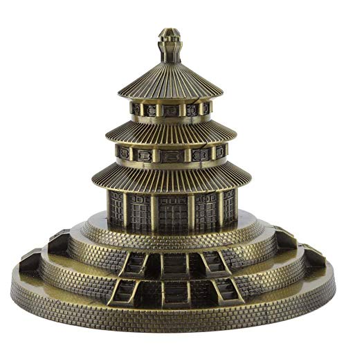FTVOGUE Beijing Temple of Heaven Park Model Metal Chinese Famous Landmark Home Office Decor Desktop Decoration Ornament