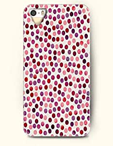 iPhone 5/5S Case, OOFIT Phone Cover Series for Apple iPhone 5 5S Case (DOESN'T FIT iPhone 5C)-- Retro Beautiful Spots -- Polka Dot Series