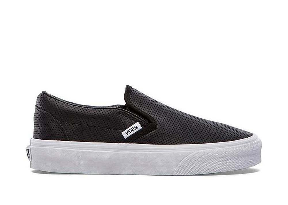 Vans Unisex Classic Slip-On (Perf Leather) Skate Shoe B00HJBV4P8  6.5 B(M) US Women / 5 D(M) US Men|Perf Leather Black