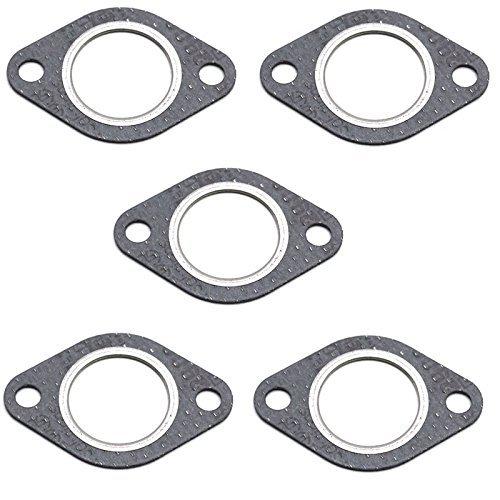 Lote de 5/juntas planas universales para tubo de escape de motos y ciclomotor