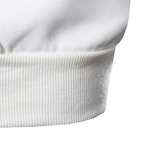 Magliette Unisex Pullover Uomo Uomo Maniche Hoodie Maglietta Weant Bianco Top Maglione Con Uomo Uomo Felpa T Uomo Lunghe Top Tumbler Maglia Shirt Maglietta Cappuccio Uomo Felpe Donna 3D Felpe 4AqAn80