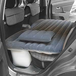 New Style Car Inflation Cushion, Multifunctional Air Bed, Travel & Camping Car Mattress (Dark grey)