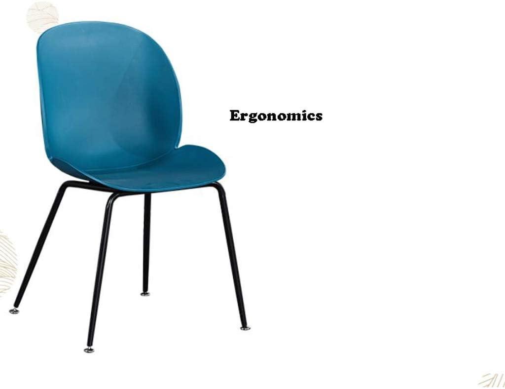 Solide Simple Chaise Bureau étudiant et Chaise de Maquillage Tabouret Retour à la Maison à Manger Chaise d'ordinateur Stable (Color : Blue) Gray