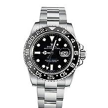 Rolex Gmt Master II Black Dial Stainless Steel Men's Watch 116710