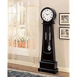 Coaster Home Furnishings 900726 Contemporary Grandfather Clock, Black
