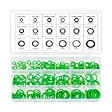 270 pcs O-Ring Rubber Assortment Kit for Insulation Gasket Washer Seals faucet shower head/caddy Car Vehicle Replacement Tools & Home Repairs,18 Sizes in SAE and Metric with Set Box