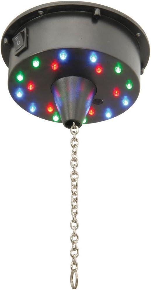 Con pilas Mirror Ball Motor con luces LED - 6rpm - Mantiene 3kg