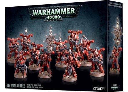Miniature Warhammer 40k Chaos Space Marine Squad - 10 (Chaos Marines)