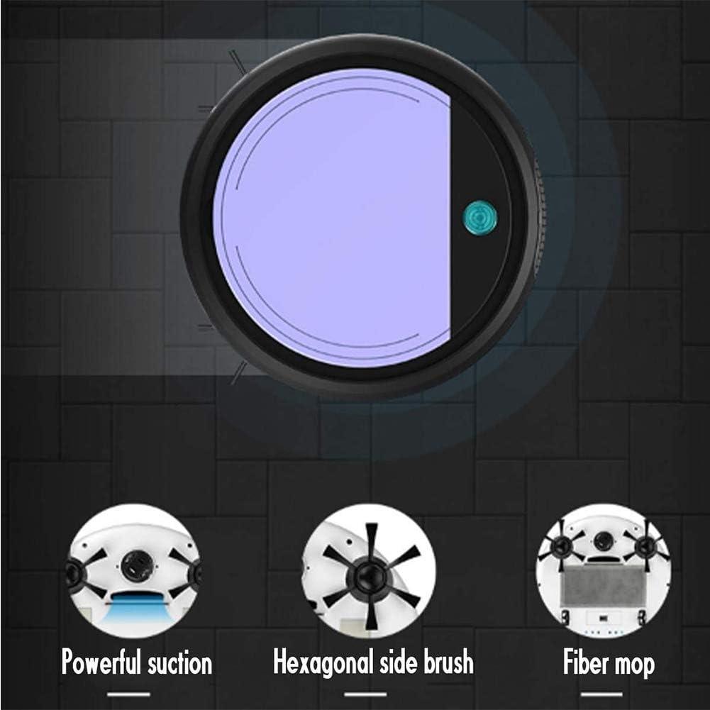 DUXIUYING Robot De Balayage Intelligent, Aspirateur Rechargeable Ultra-Mince pour Usage Domestique, pour Poils d\'animaux, Sols Durs Et Tapis,Blackpurple Whitepink