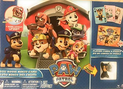 (Nickjr Paw Patrol Dog House Bingo with Bonus Playing Cards and Puzzle)