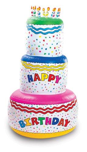 Fun Express Jumbo Happy Birthday Inflatable Birthday Cake Party Decoration