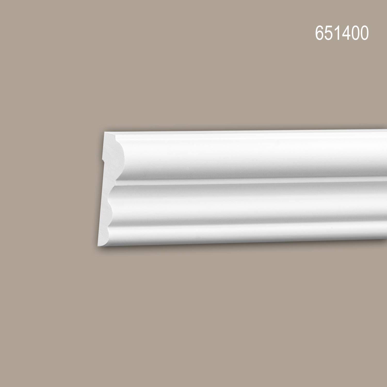 Moldura para pared 651400 Profhome Perfil de estuco Moldura decorativa Moldura friso dise/ño atemporal cl/ásico blanco 2 m
