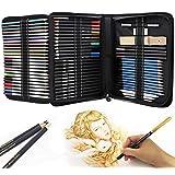 Piezas de boceto y dibujo de Arte kit, Dibujo de kit,Vagalbox 71-Piece Sketch Kit Juego completo,también incluye borradores, bolsa de kit, cuaderno de bocetos A5 ect