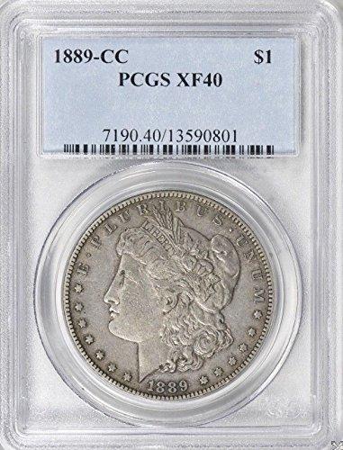 1889 CC Morgan Dollar $1 XF-40 PCGS