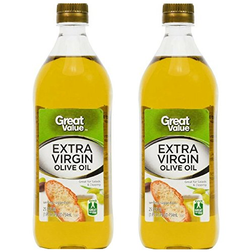 Value Olive (Great Value: 100% Extra Virgin Olive Oil, 25.5 oz (Pack of 2))