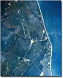 Florida Kennedy Space Center From Space 8x10 Silver Halide Photo Print