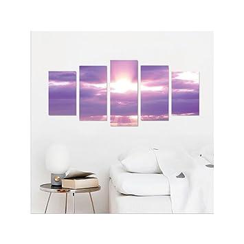 liguo88 custom canvas apartment decor collection sunburst on cloudy sky rainy weather romantic view decorating picture