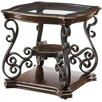 Amazon.com: Standard Muebles Bombay vidrio Ovalado, extremo ...