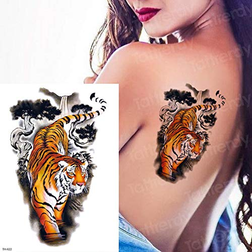 Zhuhuimin 5 unids A Largo Plazo Tatuaje Animal león Cabeza Tatuaje ...
