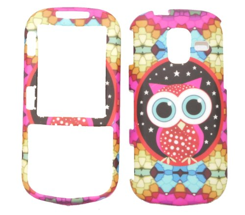 - Colorful Owl Rubberized Snap on Protective Cover Case for Samsung Intensity III U485