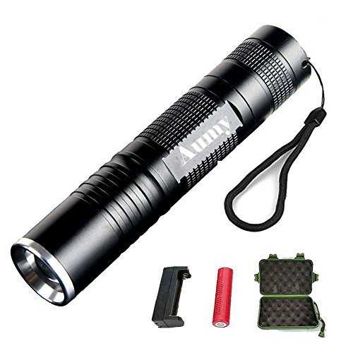 Flashlight,Outdoor Original 350 Lumen LED 3 mode Bright Camping Gear Portable Tactical Flashlight with Extendable Head and Adjustable Focus