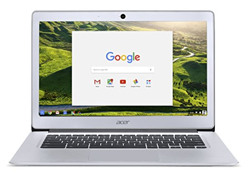 Price comparison product image Acer Chromebook 14, Aluminum, 14-inch Full HD, Intel Celeron Quad-Core N3160, 4GB LPDDR3, 32GB, Chrome, CB3-431-C5FM (Certified Refurbished)