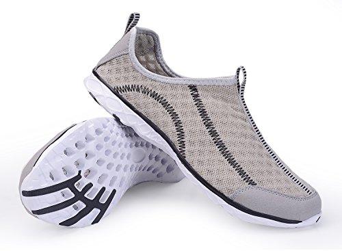 Leichte leichte athletische schnell trocknende Netz-Aqua-Beleg-Aufwasser-Schuhe der A-PIE-Frauen Grau-1