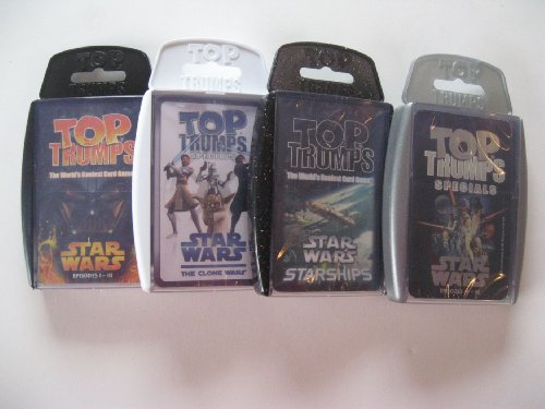 - 4 pack, includes Starships and Clone Wars ()
